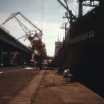 """Die """"Schauenburg"""" 1973, hier in einem frazösischen Hafen. R.N."""