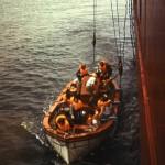 Bootsmanöver und alle tragen brav ihre Schwimmwesten. R.N.