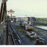 Panama Kanal, erste Schleuse.