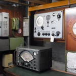 Teil einer Funkbude vor über 40 Jahren auf deutschen Schiffen.. (Museum der Arbeit Schuppen 52, Hamburger Hafen).